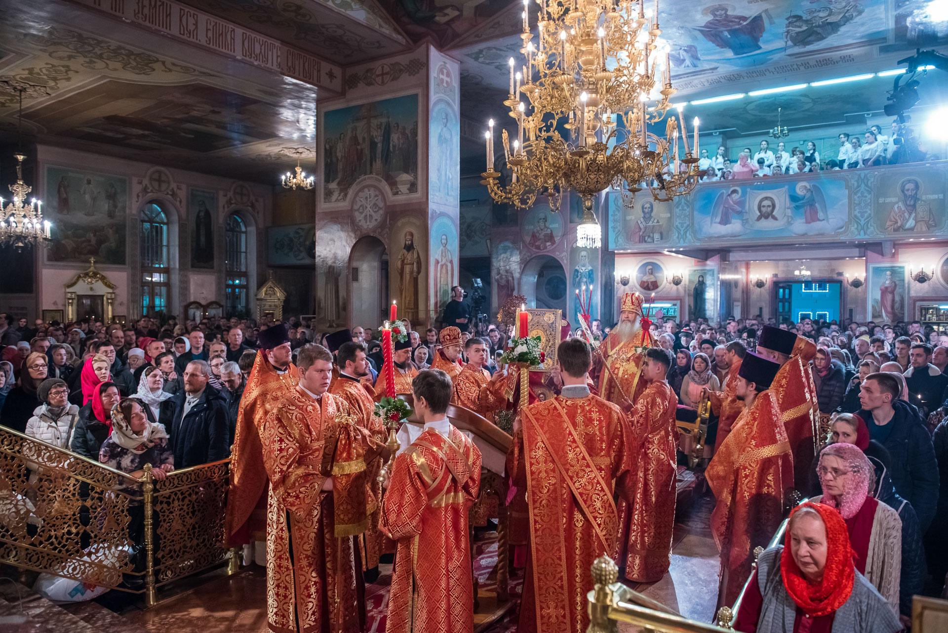Митрополит Тихон возглавил богослужения в честь Светлого Христова Воскресения