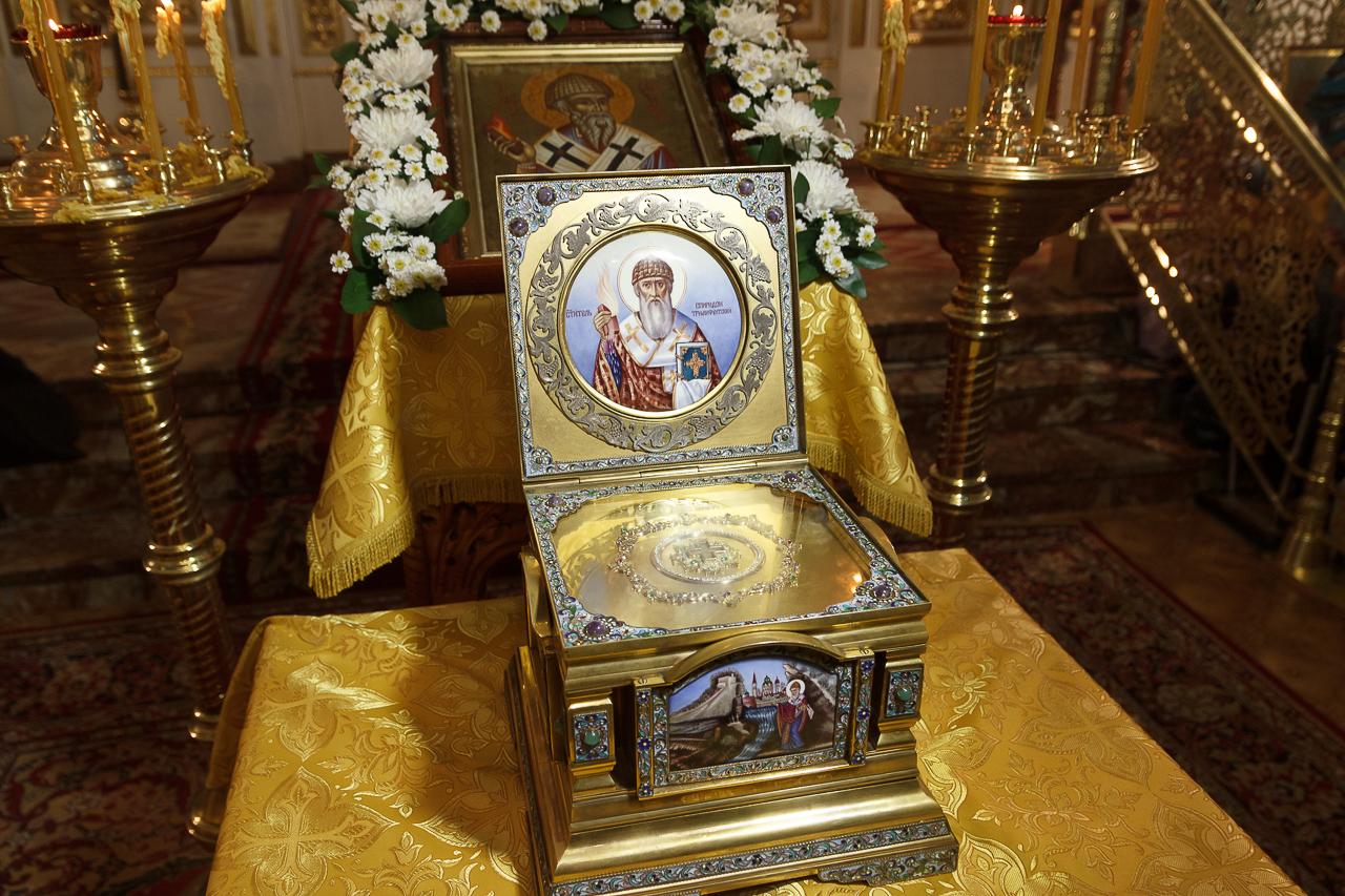 До 25 сентября в Новосибирске будет пребывать ковчег с частицей мощей святителя Спиридона Тримифунтского