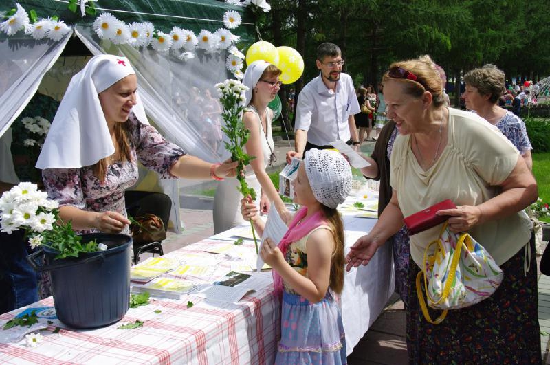 В Новосибирске пройдет акция «Белый цветок»